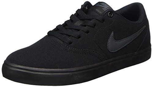 Nike Unisex SB Check Solar CNVS Black/Anthracite Skate Shoe 9 Men US / 10.5 Women US