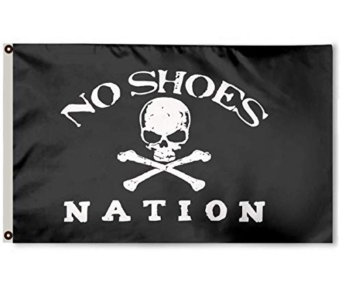 - FayLagee-yx No Shoes Flag 3x5 -Polyester Nation Flag Brass Grommets