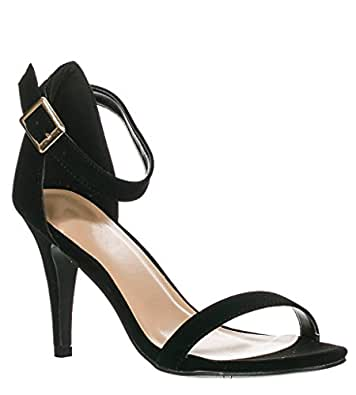 Anne Michelle Enzo-01N Ankle Strap Open Toe Stiletto High Heel Dress Sandal