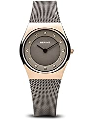 BERING Time 11927-369 Womens Classic Collection Watch with Mesh Band and scratch resistant sapphire crystal. Designed...