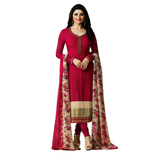Designer Italian Crepe Embroidery Readymade Salwar Kameez Indian – 0X Plus, Pink