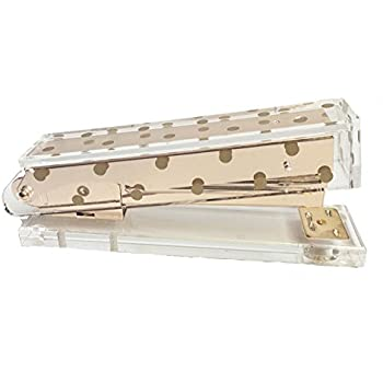 Acrylic Stapler | Gold Polka Dot   Chic, Modern Desk And Office Supplies  (Stapler
