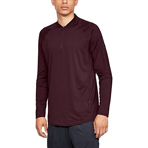 Under Armour Men's MK1 Quarter Zip Graphic, Dark Maroon (600)/Black, XX-Large