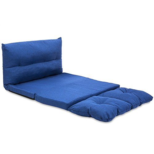 Cool Best Choice Products Fabric Folding Chaise Lounge Sofa Video Gaming Chair Floor Couch Blue Creativecarmelina Interior Chair Design Creativecarmelinacom