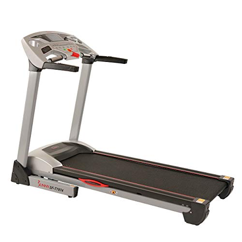 Sunny Health & Fitness Performance Treadmill, High Weight Capacity with 15 Levels of Auto Incline, MP3 and Body Fat Function – SF-T7874