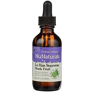 NuNaturals Pure Liquid Lo Han Supreme Concentrated Sugar Substitute, No Calorie Sweetener, 2 Ounce