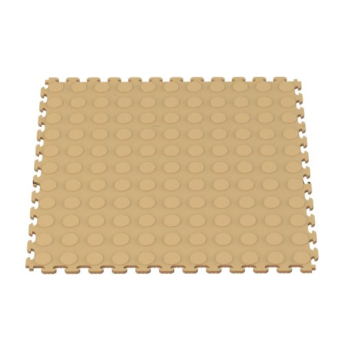Norsk NSMPRC6BLK Raised Coin Multi-Purpose PVC Flooring, Black, 6-Pack