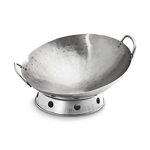 GrillPro 98020 Carbon Steel Deluxe Deep Wok by GrillPro