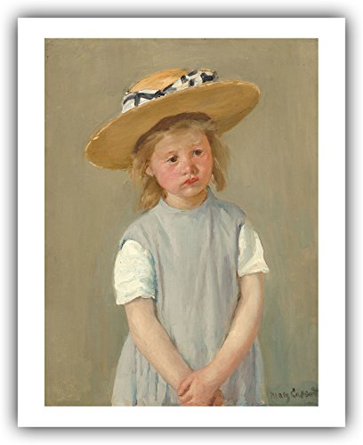 "Mary Cassatt : ""Child in a Straw Hat"" (c.1886) — Giclee Fine Art Print"