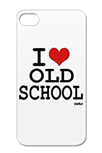 Red Rap Heart Skateboarding Old Skateboard Love Gift Wam Idea Satire Old School Vintage Ideas Oldies Skate Gifts I Hip Hop Funny Case Cover For Iphone 4/4s I By