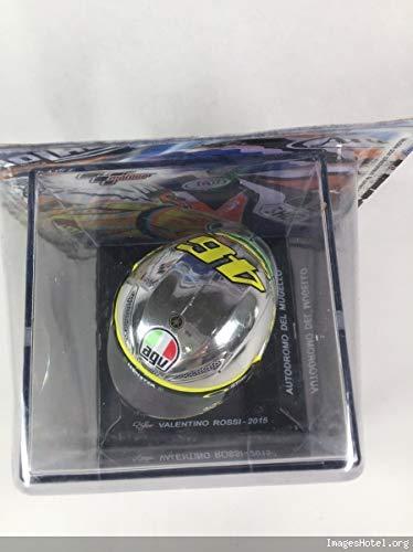 Escala 1//5 en Miniatura art/ículo de Clip en la Base grabada OPO 10 Casco para Moto Valentino Rossi 2015 - Visera Desmontable - Ref 703 suministrado 7x7 cms