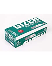 GIZEH Menthol Extra 200 filterhylsor, extra långa filter, 200 hylsor per låda 10 lådor (2 000 hylsor)