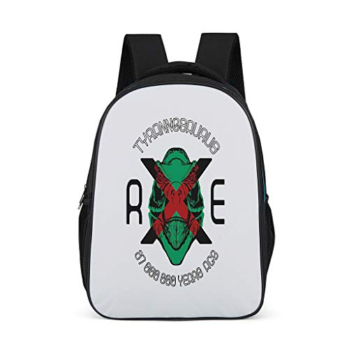 Beixixi-Cool Cartoon RXE Dinosaur Backpack Kids Backpack Computer Laptop Bag Custom Logo Fashion Lovely Bag L32W18H42cm White
