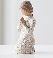 Willow Tree hand-painted sculpted figure, Prayer of Peace