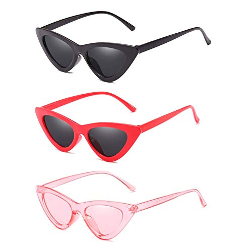 Cat Eye Sunglasses for Women Vintage Retro Style Plastic Frame UV 400 Protection