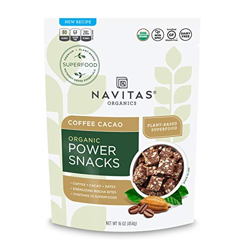 Navitas Organics Superfood Power Snacks, Coffee Cacao, 16oz. Bag - Organic, Non-GMO, Gluten-Free