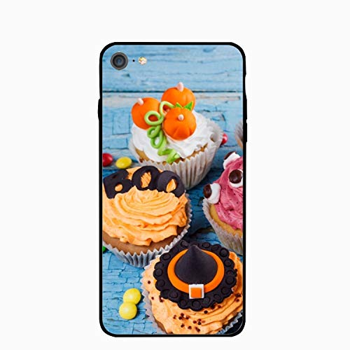 iPhone 6 Case,iPhone 6s Case,Halloween Cupcake for Girls Women Best Protective Rubber Slim Fit Thin Phone Case Compatible for iPhone 6/iPhone 6s]()