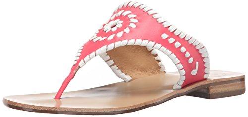 Jack Rogers Blair de la mujer vestido sandalia Bright Pink-White
