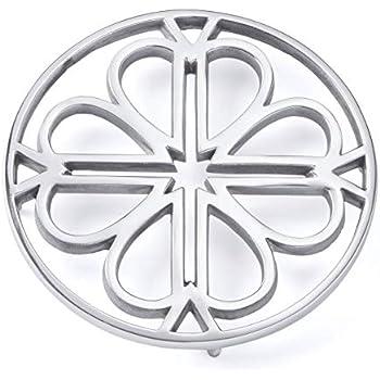 Kate Spade New York 889182 Spade Flower Clover Trivet, Stainless Steel