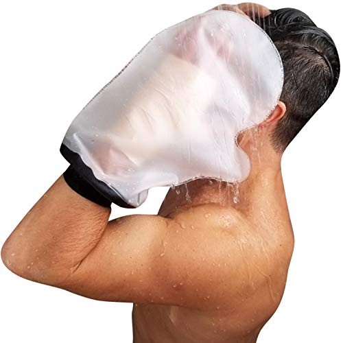 Cast Cover | Waterproof Adult Cast Bag Bandage Protector for Shower | Watertight Adult Plastic Protection Dry Bag | Water Tight, Resistant, Submersible (Hand | Small/Medium) ()