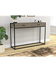 Safdie & Co. 81046.Z.05 Entryway Console Sofa Couch Table/Accent Wall Table-48 Long/Dark Taupe with Drawers for Living Room