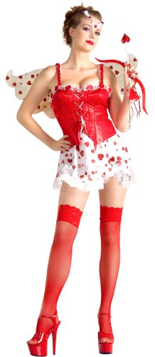 Adult Sexy Cupid Cutie Costume - Womens M-L (8-12) - Cupid Ladies Costumes