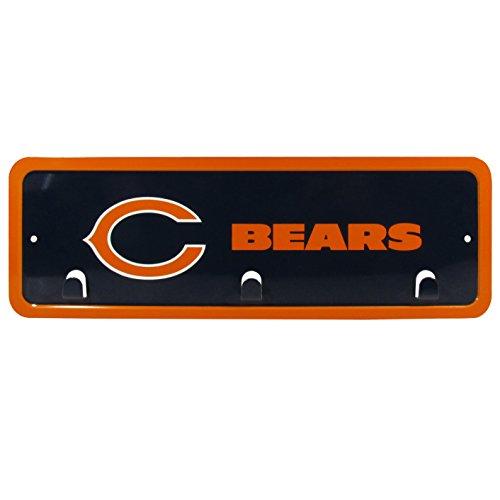 NFL Chicago Bears Metal Key Rack, 3 -