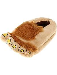 F Fityle Hobbit Furry Adventure Chinelos Chinelo Sapatos De Pelúcia Novidade Unisex Costume