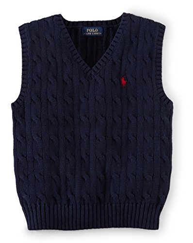 Ralph Lauren Baby Boy CABLE-KNIT COTTON Sweater Vest 3 Month Hunter - Ralph Sweater Boys Vest Lauren