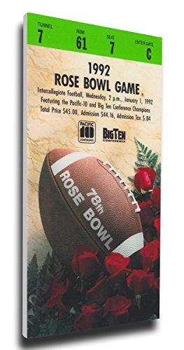 NCAA Washington Huskies 1992 Rose Bowl Mega Ticket (Rose Washington Bowl Huskies)
