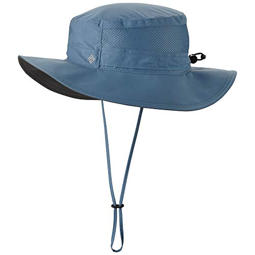 Columbia Unisex Bora Bora II Booney Hat, Moisture Wicking Fabric, UV Sun Protection, Steel, One Size
