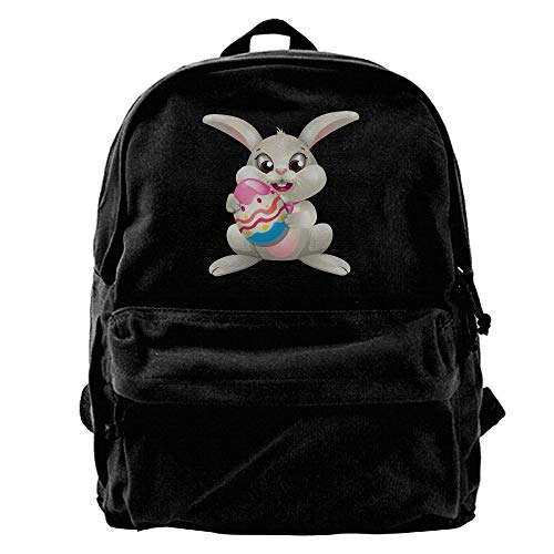 Hghthyuir Unisex Classic Canvas Backpack Powder Egg Tart Unique Print Style,Fits 14 Inch Laptop,Durable,Black ()