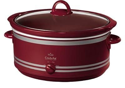 Crock-Pot SCV702 7-Quart Oval Manual Slow Cooker, Red by Crockpot