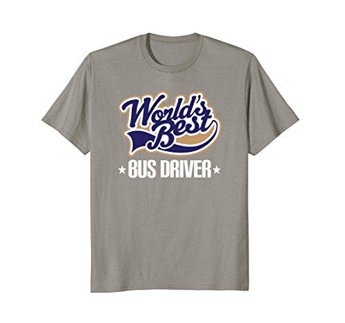 Mens School Bus Driver Appreciation Gift T-shirt XL Slate