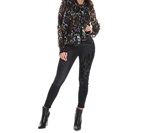 Mangano Pmng000930001 Jeans Algodon Mujer Negro CCRxp1