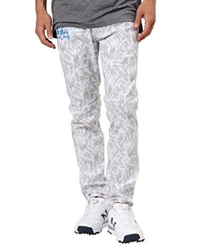[ガッチャ ゴルフ] GOTCHA GOLF パンツ メキシカン柄 スーパー ストレッチ 総柄 ロングパンツ 182GG1800 ホワイト Sサイズ
