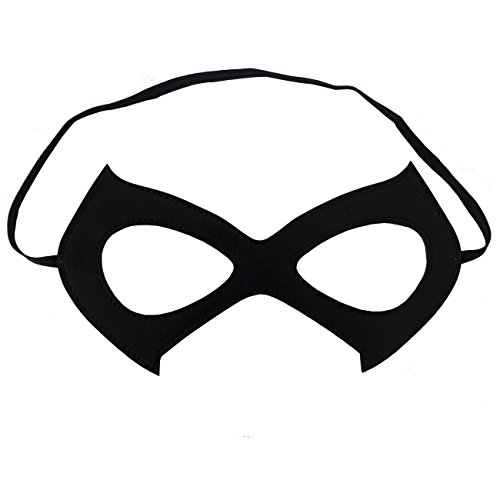 Cat Mask Costume Black Leather Eye Mask - Great Halloween Accessory (One Pack)