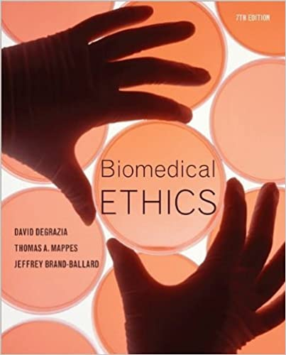 Book D. DeGrazia's T.Mappes's J.Ballard's Biomedical 7th (Seventh) edition(Biomedical Ethics [Paperback])(2010)