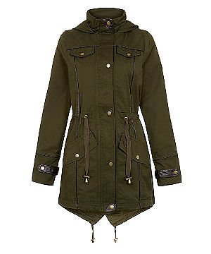 Khaki, UK 16] LADIES WOMENS DESIGNER BRAVE SOUL HARPER MILITARY ...