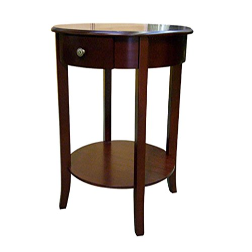 ORE International Round Cherry End Table ()