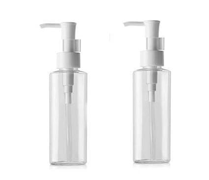 2 botes de plástico vacíos y rellenables reutilizables para botellas de champú o ducha, gel