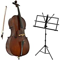 Sotendo 1/4 Size Student Cello with Music Stand & Soft Case
