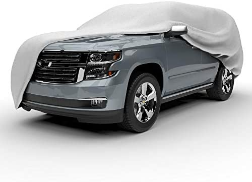 Scratchproof Dustproof Cover Gray Budge Duro 3 Layer Car Cover Fits Cars up to 131 Water Resistant