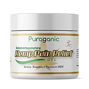 Hemp Pain Relief Gel – Massage Gel to Relief Joint & Muscle Tension, Made from CO2 Extracted Hemp & Natural Extracts…