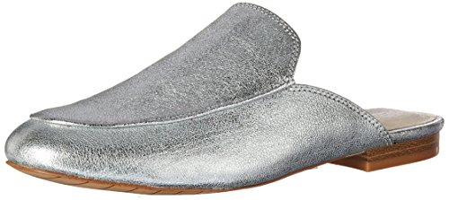 Kenneth Cole New York Mujeres Wallice Slip On Backless Loafer Mula Plata