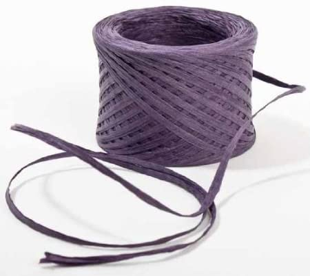 Plum Metallic Raffia Ribbon 1//4 X 100 Yards