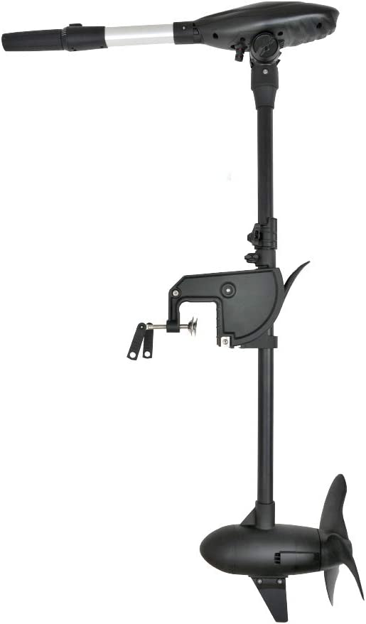 """AQUOS Black Haswing 24V 110LBS 38.5"""" Shaft Transom Electric Trolling Motor Lightweight for Bass Fishing Boats, Inflatable Boats, Freshwater and Saltwater Use"""