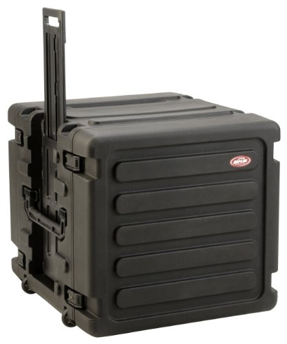 inch Deep 10U Rolling Roto Shock Rack with Wheels (Shock Mount Rack Case)
