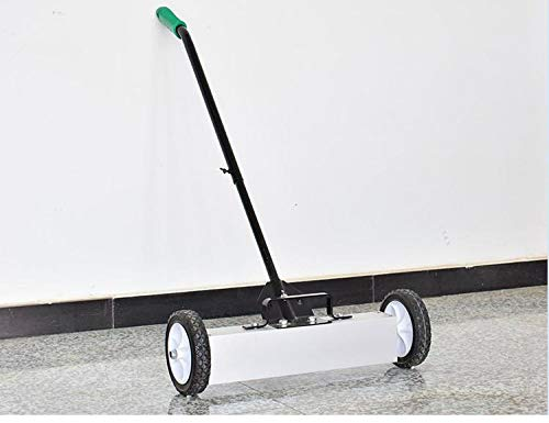 (go2buy Heavy Duty Magnetic Sweeper with Release Handle and Wheels, 36 Inches )