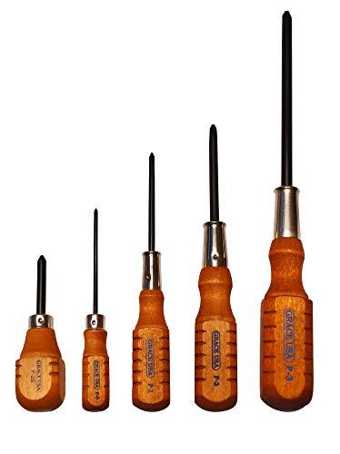 Grace USA - Phillips Screwdriver Set - DP5 - Gunsmithing - Screwdrivers - 5 piece - Gunsmith Tools & Accessories (Best Gunsmith In Maine)